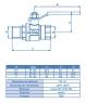 Кран шаровой ECA ЗА102 НВ E.C.A 1″