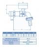 Кран шаровой поливочный ECA ЗА071 3/4″ бантик