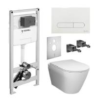 Инсталяционный комплект Schell Montus REWC 000*+RESC0003 унитаз с крышкой SoftClose и кнопкой белой