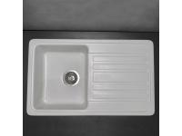 Мойка кухонная Fancy Marble Versal 109070001 белая
