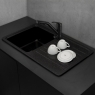 Мойка кухонная Fancy Marble Versal 109070004 светло-черная