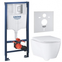 Система инсталляции для подвесного унитаза Grohe Essence Ceramic 39571CB1
