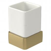 Стакан для зубных щеток Haceka Aline Gold 1196882