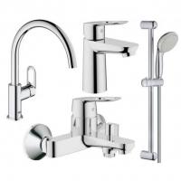 Набор смесителей для ванны 4 в 1 Hansgrohe Bau Loop 123225K