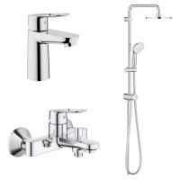 Комплект смесителей для ванны 3 в 1 Grohe Bauloop 26129005