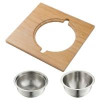 Сервировочная доска для кухонной мойки с дуршлагом и миской Kraus KAC-1005BB