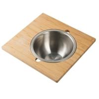 Сервировочная доска для кухонной мойки с миской Kraus Workstation KAC-205BB