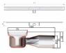 Душевой канал ACO ShowerDrain C-line 408743 без фланца низкий сифон