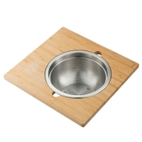 Сервировочная доска для кухонной мойки с дуршлагом Kraus Workstation KAC-105BB