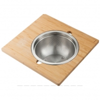 Сервировочная доска Kraus KAC–105BB для кухонной мойки с дуршлагом из нержавеющей стали