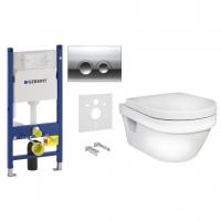 Комплект 6 в 1 унитаз подвесной Gustavsberg Hygienic Flush 5G84 c комплектом Geberit Duofix 4в1 458.121.21.1
