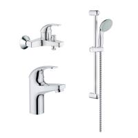 Комплект смесителей для ванны и душа 3 в 1 Grohe BauCurve 122271