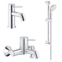 Комплект смесителей для ванны 3 в 1 Grohe BauClassic 123868S