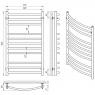 Полотенцесушитель Laris Класик П11 71207032bronze, 500х900 мм