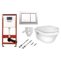 Комплект 6 в 1 унитаз подвесной Gustavsberg Hygienic Flush 5G84 с комплектом TECEbase kit 4в1 9400006