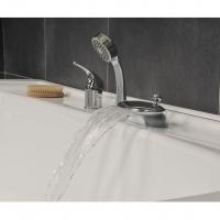Установка врезного смесителя RS 025.00 на ванну