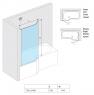 Шторка для ванны Excellent Be Spot KAEX.2309.750 LE/PR 75 см