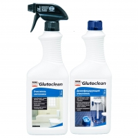 Комплект дезинфектор+очиститель сантехники Glutoclean 4733, 1500 мл