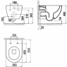 Унитаз подвесной Creativ Free Rim-Off CreativF001bo с сиденьем