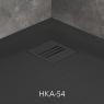 Поддон душевой Radaway Kyntos A Black HKA8080-54 80 см