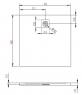Поддон душевой Radaway Kyntos C Black HKC100100-54 100 см
