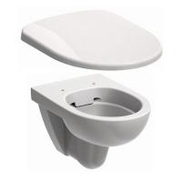 Набор керамики 2в1 подвесной унитаз овальный Kolo Nova Pro M33120000 Rimfree с дюропластовым сиденьем Kolo Nova Pro M30112000 soft-close