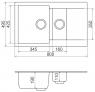 Мойка кухонная Vankor Orman OMP 04.80 Gray