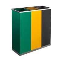 Корзина для сортировки мусора JVD H4014VAG