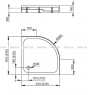 Душевая кабина с поддоном Radaway 30000-01-01+Tinos A900 S4TIA9090-08