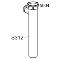 Трубка сифона Alca Plast S312