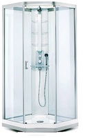 Душевая кабина IDO Showerama 9-5 100*100 профиль матово-серебристый, стекло узорчатое/тонированное
