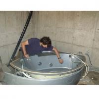 Установка акриловой ванны с гидромассажем
